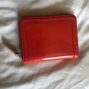 Halogen wallet in coral and beige